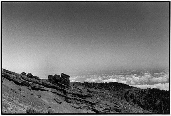 Cloudporn Fotografie Schwarzweiß Landschaft Landschaftsphotgraphie Landschaftsfotografie Landscape La Palma Baumgrenze Wolken Berg