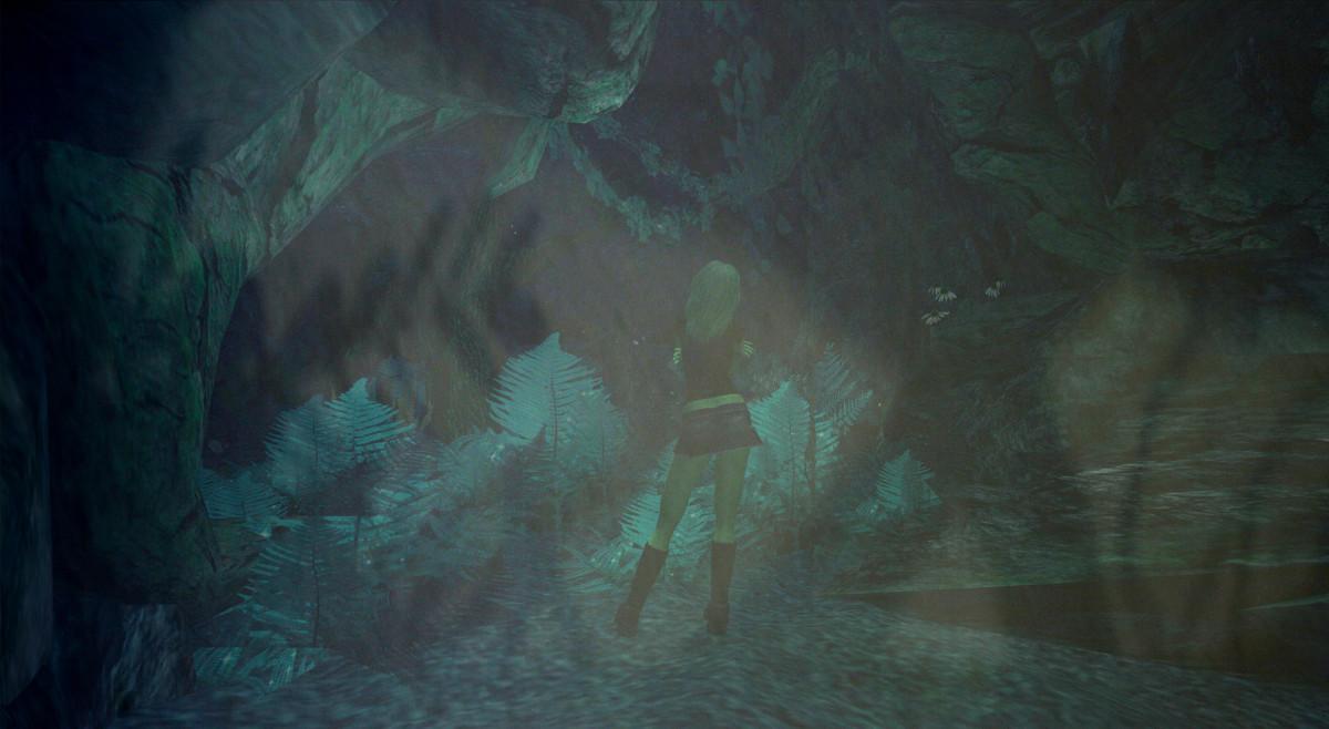 Es wird dunkel: Reale Schatten überlagern den Wald in Second Life und bilden eine neue Realität