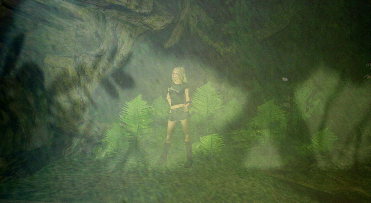Reale Schatten überlagern den Wald in Second Life und bilden eine neue Realität